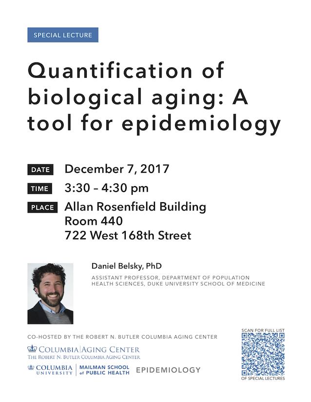 Daniel Belsky seminar, December 7